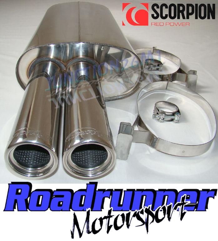 scorpion back box stainless steel exhaust bmw 325 e30 85 88 inc cabrio. Black Bedroom Furniture Sets. Home Design Ideas
