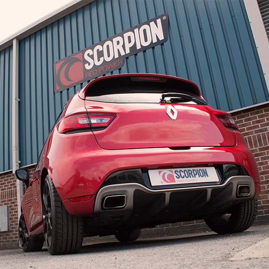 scorpion clio rs 200 edc exhaust secondary cat back stainless system non res new ebay. Black Bedroom Furniture Sets. Home Design Ideas