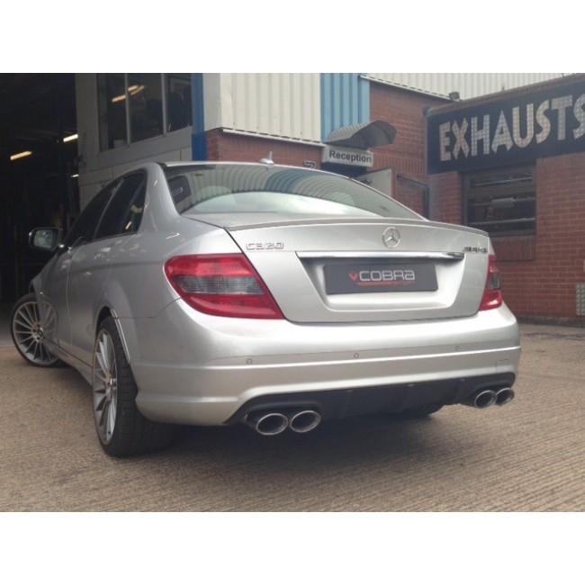Cobra exhaust mercedes c class w204 c200 c220 c250 sport for Mercedes benz c300 exhaust