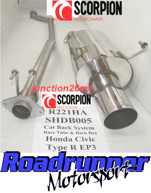Brand New Scorpion Cat Back Nonresonated System To Fit Honda Civic Type R 20 Ep3 2001 2006: Civic Stainless Exhaust At Woreks.co