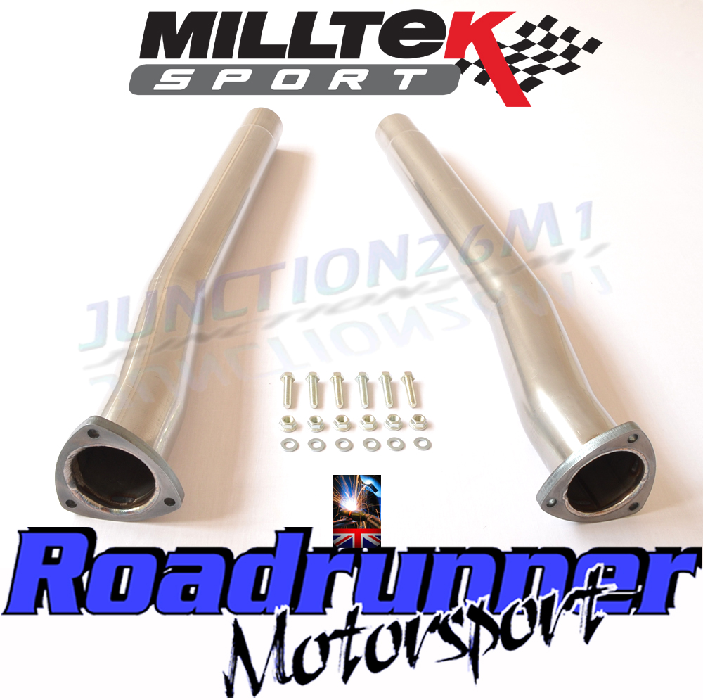 Milltek Audi RS3 8V Exhaust Decats Secondary Cat Bypass Pipes Fits OEM Exhaust