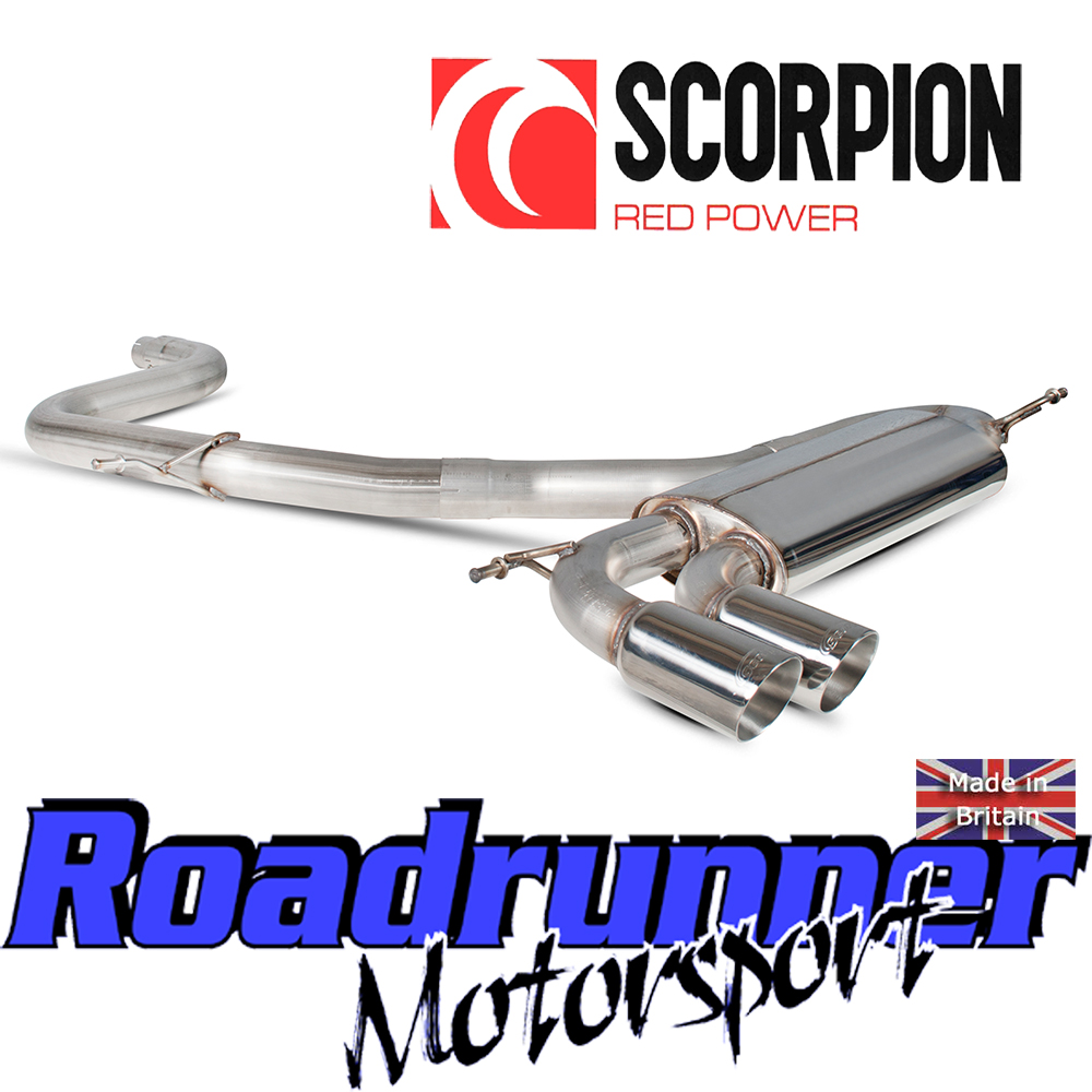"Details about Scorpion Golf GTI MK5 Exhaust 3"" Stainless Cat Back System NonRes Louder SVWS042"