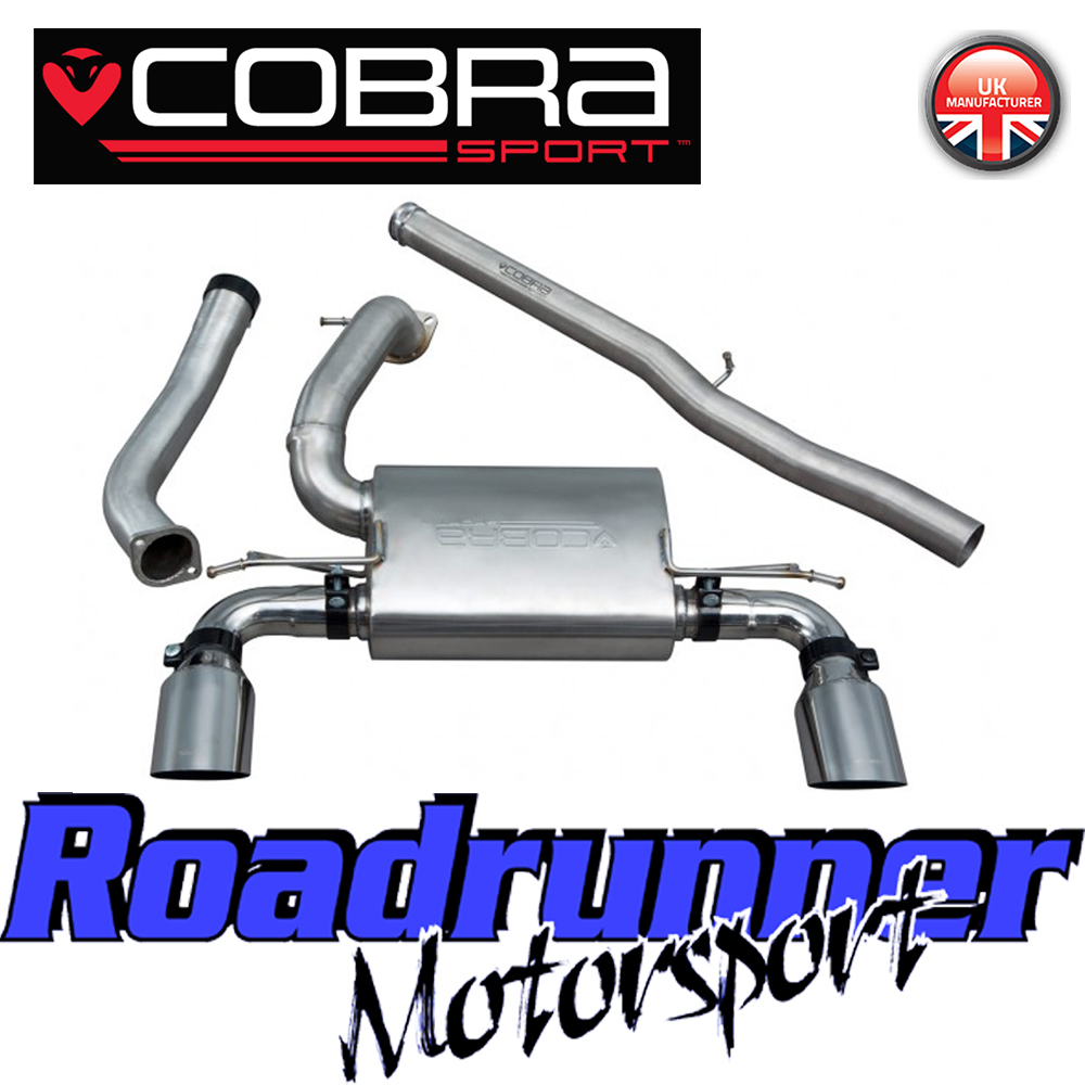 Cobra Non Valved Cat Back Exhaust: Cobra Focus RS MK3 Exhaust Cat Back System Stainless Non